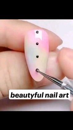 Chic Nails, Stylish Nails, Simple Nails, Easy Nails, Beauty Hacks Nails, Nail Polish Storage, Nail String Art, Nail Art Designs Videos, Minimalist Nails