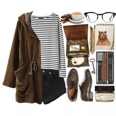 A fashion look from October 2013 featuring long sleeve tops, long coat and high waisted shorts. Browse and shop related looks. Retro Outfits, Vintage Outfits, Casual Outfits, Winter Outfits, Teen Fashion, Fashion Outfits, Womens Fashion, Looks Style, Style Me