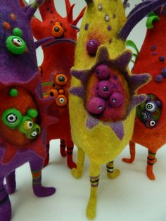 Felted pods by Andrea Graham