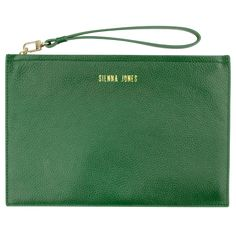 Classic Pouch in Green - A Chic addition to your accessories collection. This soft pebbled textured leather clutch will add that finishing touch to any outfit.