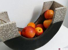 Keramische plaat Raku fruitschaal van CeramicStudio op Etsy