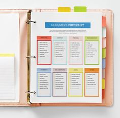 Household Docs Put some calm in your life by organizing important information in one household document binder. It will make your life easier and bring frenzied hunts to an end. Filing Cabinet Organization, Organizing Paperwork, Binder Organization, Household Organization, Home Office Organization, Organizing Life, Family Organizer Binder, Organising, Organizing Documents