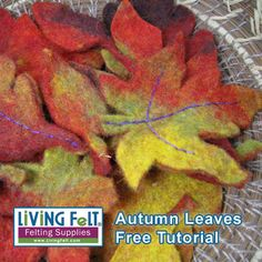 Free  Felting Tutorial Autumn Leaves -  PDF Download