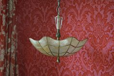 Capiz Shell Lighting Semi Flush One of a Kind by queendecor
