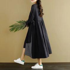 Black causal dress