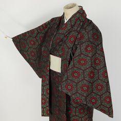 Wool kimono ensemble / 紬地のように見えるウール単衣    #Kimono #Japan http://global.rakuten.com/en/store/aiyama/