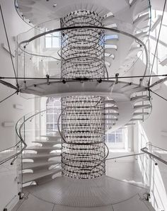 Staircase at Somerset House Eva Jiricna Architects
