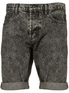 BLACK ACID WASH SHORT