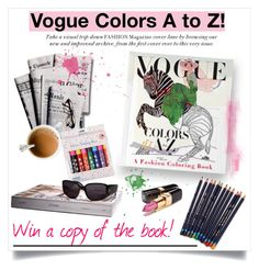 """VOGUE COLORS A to Z! Win the fashion coloring book!"" by helenevlacho on Polyvore featuring art, contest, vogue and ColoringBook"