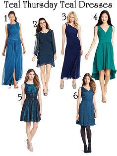 Teal Thursday Teal Dresses #teal #blue #dresses