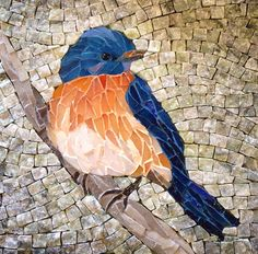 Lee Ann Petropoulos' Fine Art Mosaics (smalti, stained glass and marble). To enhance fine detailing in this square piece, several different colors of grout were used. Mosaic Garden Art, Mosaic Tile Art, Mosaic Artwork, Mosaic Crafts, Mosaic Projects, Pebble Mosaic, Mosaic Glass, Glass Art, Sea Glass