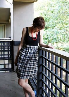 Tank dress . . . so easy, I think I can even sew it!