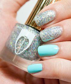 "Floss Gloss ""Dimepiece"" [silver glitter nail polish]"