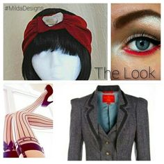 Be the most#BadAss #BusinessLady the world had ever seen!  Pair your #red #pinstripe #turban (decorated  and fortified with #mica) with a striped #eye, #sexyStalkings, and a #VivienneWestwood suit. Then,  you're ready for action!  Available exclusively on @Etsy: https://www.etsy.com/listing/213978764/red-pinstripe-knit-half-turban-with-mica  #MildaDesigns #turban #turbanator #turbanLove #design #oneOfAKind #art #vintage #repurposed #handmade #etsy