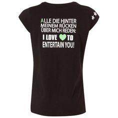 f0835741fa T-Shirt (-Rücken mit Sprüche-Druck schwarz XS