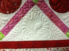 by Jessica's Quilting Studio, beautiful feathered heart! (cute heart thin border, too)