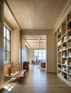 Interior And Exterior, Interior Design, Paradise Cove, Space Architecture, Shelf Design, Common Area, Guest Bedrooms, Maine House, Outdoor Rooms
