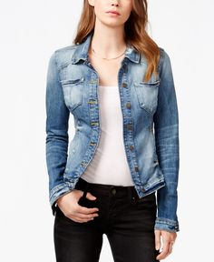 3aeabd06e48 Guess Tailored Denim Jacket Guess Clothing