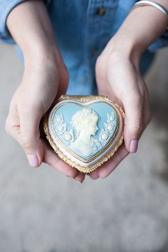 Giving Hands - Cameo, Blue Princess Aesthetic, Blue Aesthetic, Cute Jewelry, Jewelry Box, I Love Heart, Moustaches, Woodland Wedding, Forest Wedding, Little Gifts