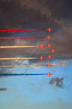 Red Arrows Display Team transportation photograph picture print by AE Photo
