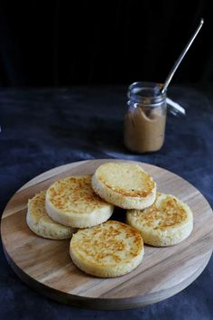 Homemade Crumpets with Spiced Peanut Butter Homemade Crumpets, Crumpet Recipe, New Recipes, Favorite Recipes, Scottish Recipes, Melted Butter, Peanut Butter, Spices, Cooking