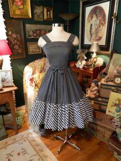 Vintage 60's Black White Dotted Dress w NIP Waist Full Skirt Darling S | eBay