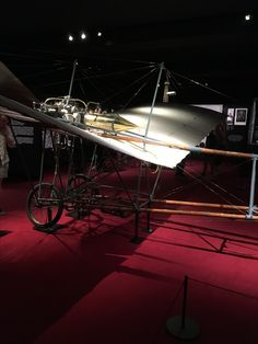 Cartier in motion. Ancient aeroplane.
