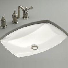0 Kelston Undermount Style Bathroom Sink White At Powder Room Sink, Undermount Bathroom Sinks, Bathroom Styling, Tub Faucet, Bathroom, White Faucet, Kohler, Sink, Undermount Bathroom Sink