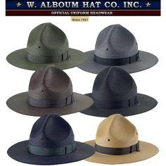 792ff0f43b18c Alboum Campaign Uniform Hat with Leather Head Strap (Reg) - West Coast  Uniforms and Accessories