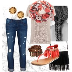"""""""Fringe and Feathers"""" by emilylovessparkles on Polyvore"""