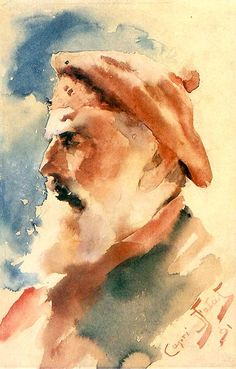Julian Fałat Głowa rybaka 1891.