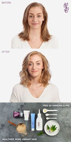 Is your hair damaged from harsh chemical hair color? Get softer, shinier, more vibrant hair with Madison Reed Color. It's packed with naturally derived nutrients like argan oil, keratin, and ginseng extract to nourish and revitalize your hair after coloring. Plus it has none of the harsh chemicals like ammonia or PPD's found in other colors, so there's no bad smell or scalp burn when applied.