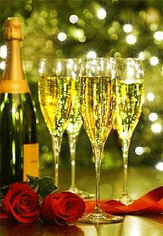 Šťastný Nový rok přeje Lenka s rodinou Happy Birthday Drinks, Happy Birthday Flower, Happy Birthday Images, Birthday Wishes, Happy New Year Gif, Happy New Year Images, Happy New Year Greetings, Merry Christmas And Happy New Year, Happy Aniversary