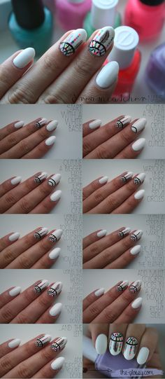 Dreamcatcher Nail Art Tutorial. Click through for more! #dreamcatcher @Ainsley Sparkes Sparkes Cooper