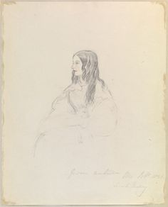 A sketch by Queen Victoria from THE QUEEN SKETCHES VOL.II