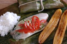 Central African Republic Steamed Fish in banana leaf. Get the recipe and learn about the culture at http://www.internationalcuisine.com it's free!