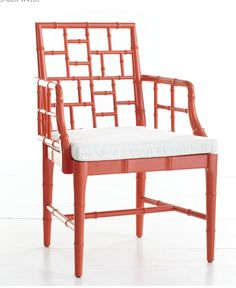 poppy painted chair