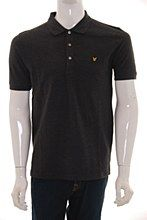 Lyle and Scott Mens Polo Shirt Charcoal b_XXL Vintage Regular Fit - Various Size Options