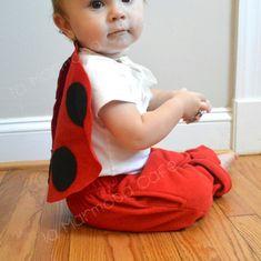 Ladybug / ladybird costume. Baby & pet Halloween by laMarmotaCafe, $7.00