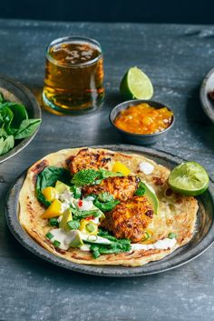 Indian Spiced Barbecue Chicken with Spinach, Mango & Avocado Salad