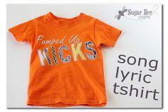 Song Lyrics Tshirt
