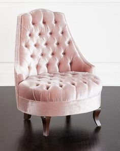 Pink Velvet Upholstered Chair - Products, bookmarks, design ...
