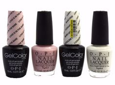 OPI GelColor + Matching Lacquer The Nude Pink & White Set Of 4