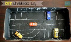 {DIY} Chalkboard City For Hot Wheels