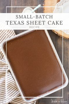 Dec 2019 - Is there anything better than a soft, warm, chocolatey texas sheet cake? No, I don't think so either! This recipe is makes only a quarter of a sheet cake! Mini Desserts, Small Desserts, Just Desserts, Dessert Recipes, Fruit Recipes, Bon Dessert, Dessert For Two, Dessert Food, Mug Recipes