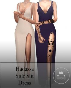 Hadassa's Side Slit Dress at Simply King • Sims 4 Updates