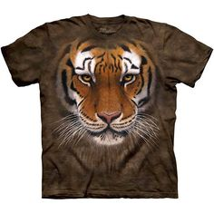 The Mountain Big Face TIGER WARRIOR T-SHIRT Bengal Head Zoo Animal Tee S-3XL #TheMountain #GraphicTee