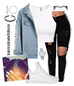 """you gotta be smart about it☝"" by kennanextdoor ❤ liked on Polyvore featuring H&M, Puma and MICHAEL Michael Kors"