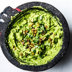 It takes a while for the avocado to absorb all the flavors you add to it. So if you ever find yourself wondering if your guac is spicy (or salty, or lime-y) enough, wait a few minutes before you add more so that you don't accidentally overseason it. This is part of BA's Best, a collection of our essential recipes.