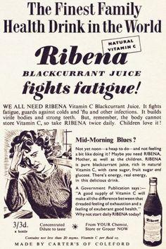 Ribena Advert from 1953